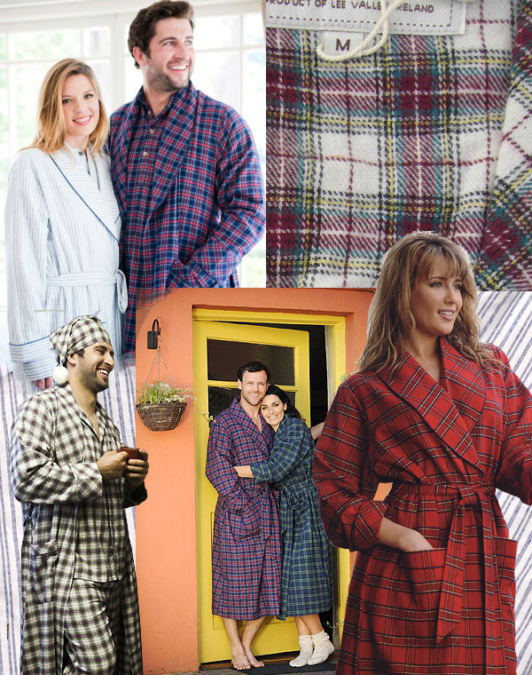 der klassische flanell bademantel aus baumwolle oder der warme hausmantel aus reiner wolle. Black Bedroom Furniture Sets. Home Design Ideas